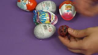 玩具出奇蛋奇趣蛋 健達巧克力驚喜蛋 男孩版 女孩版 玩具蛋開箱 /復仇者聯盟、蟻人、蜘蛛人、小美人魚