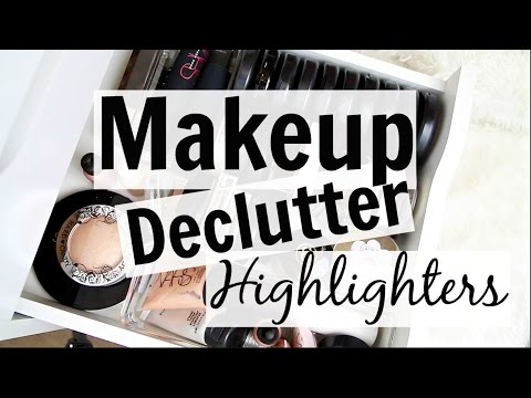 Makeup Collection + Declutter! // Highlighters
