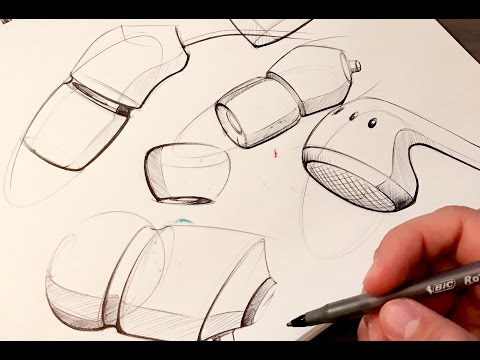 Industrial Design Sketching - How to Sketch with a Pen