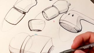 Industrial Design Sketching - How to Sketch with a Pen thumbnail