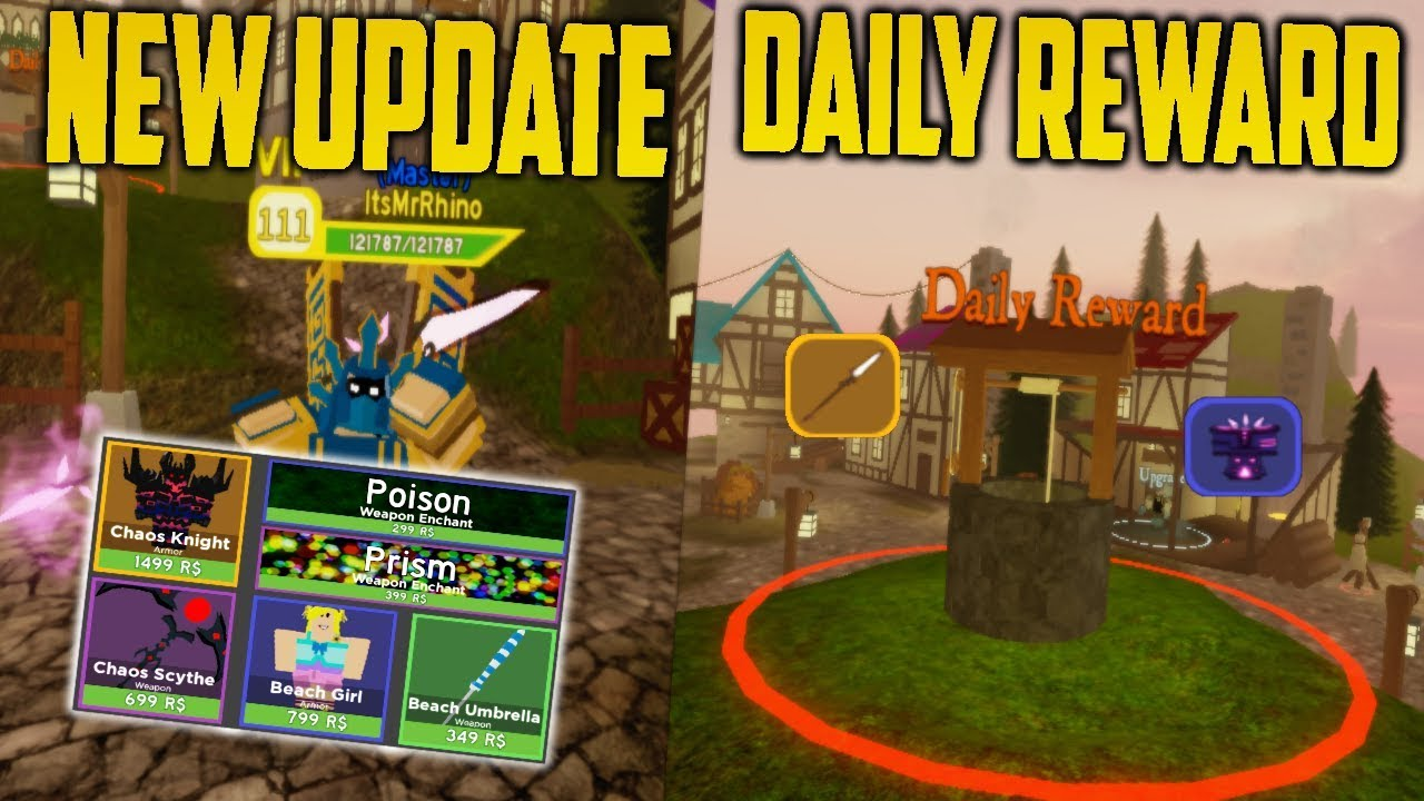 Roblox Brand New Dungeon Quest Update Daily Rewards Cosmetic