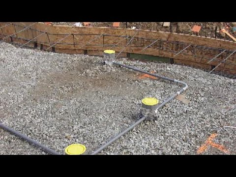 How to lay electrical conduit in concrete slab