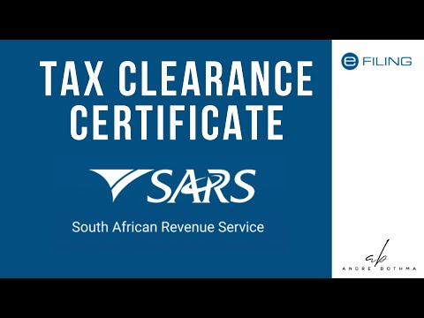 UPDATED! How To Get A Tax Clearance Certificate On SARS EFiling