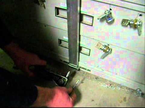 file cabinet outside security bar - YouTube
