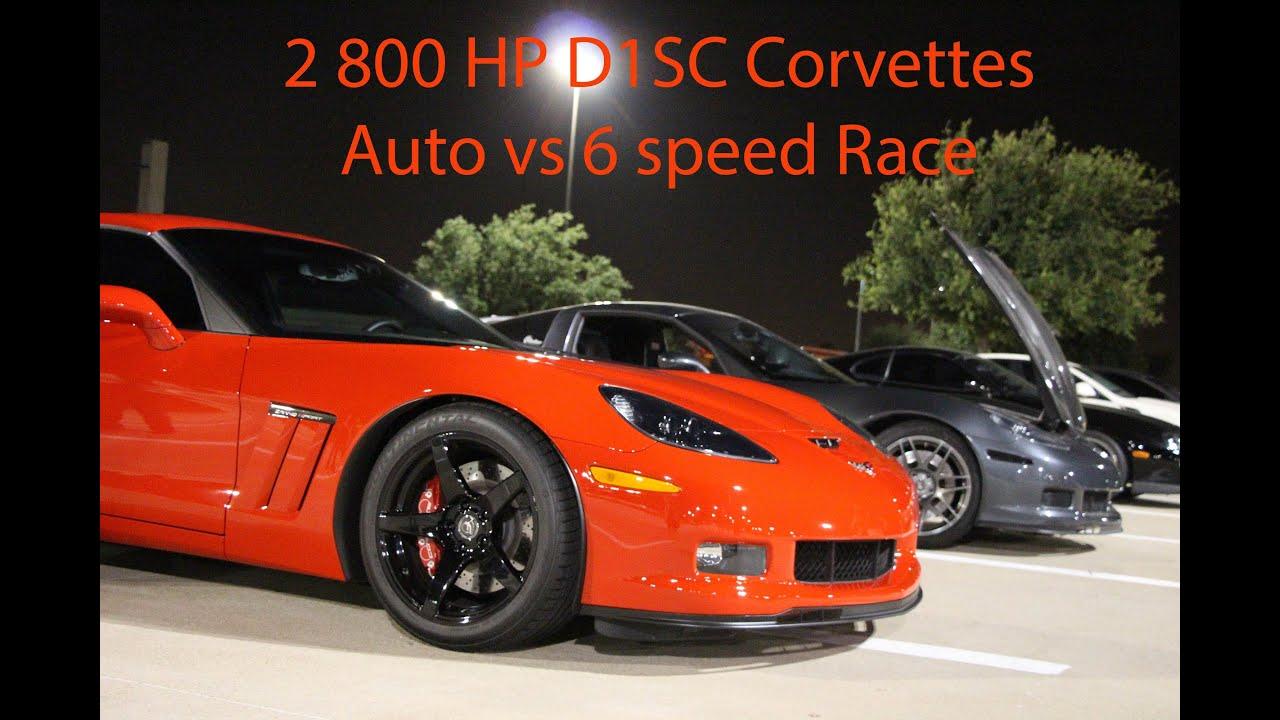 auto vs manual 2 800hp procharged vettes racing hd youtube rh youtube com automatic vs manual drag racing automatic vs manual racing