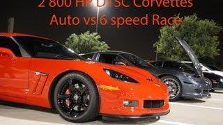 Авто проти керівництво - 2 800лс Procharged Веттес гонки (у форматі HD)