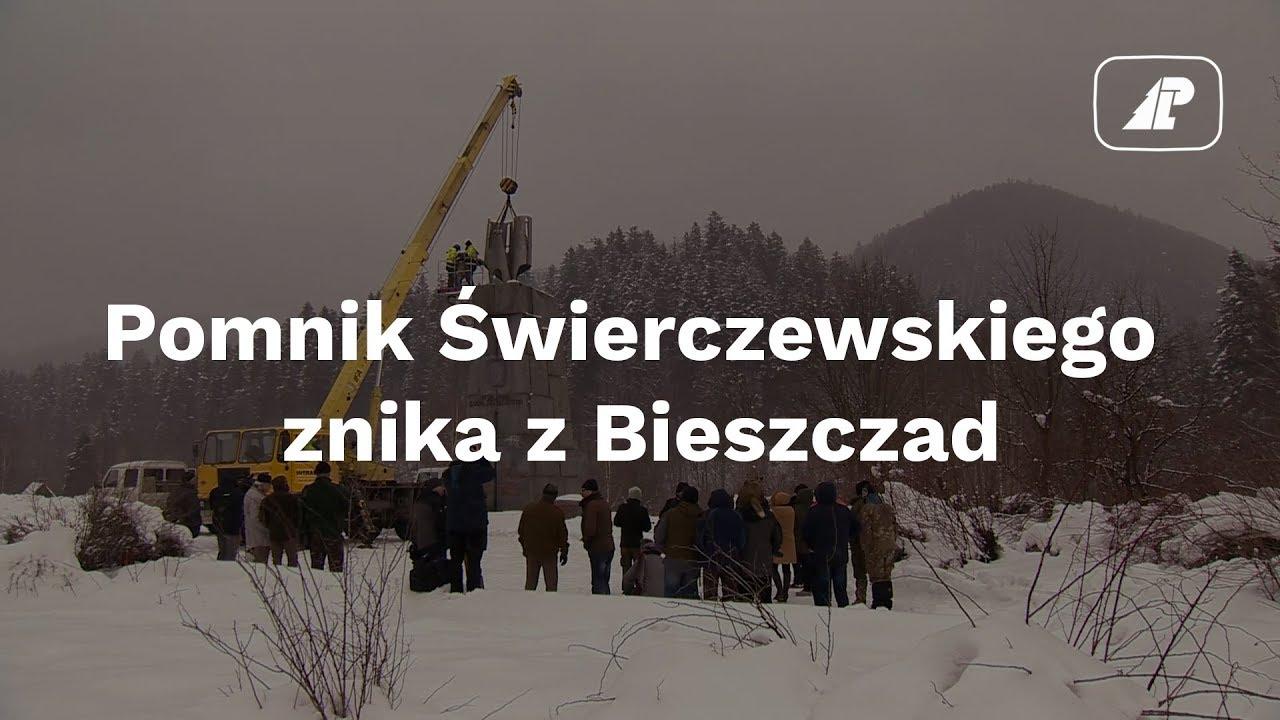 Pomnik Świerczewskiego znika z Bieszczad