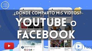 ¿comparto mis videos en YouTube o Facebook?