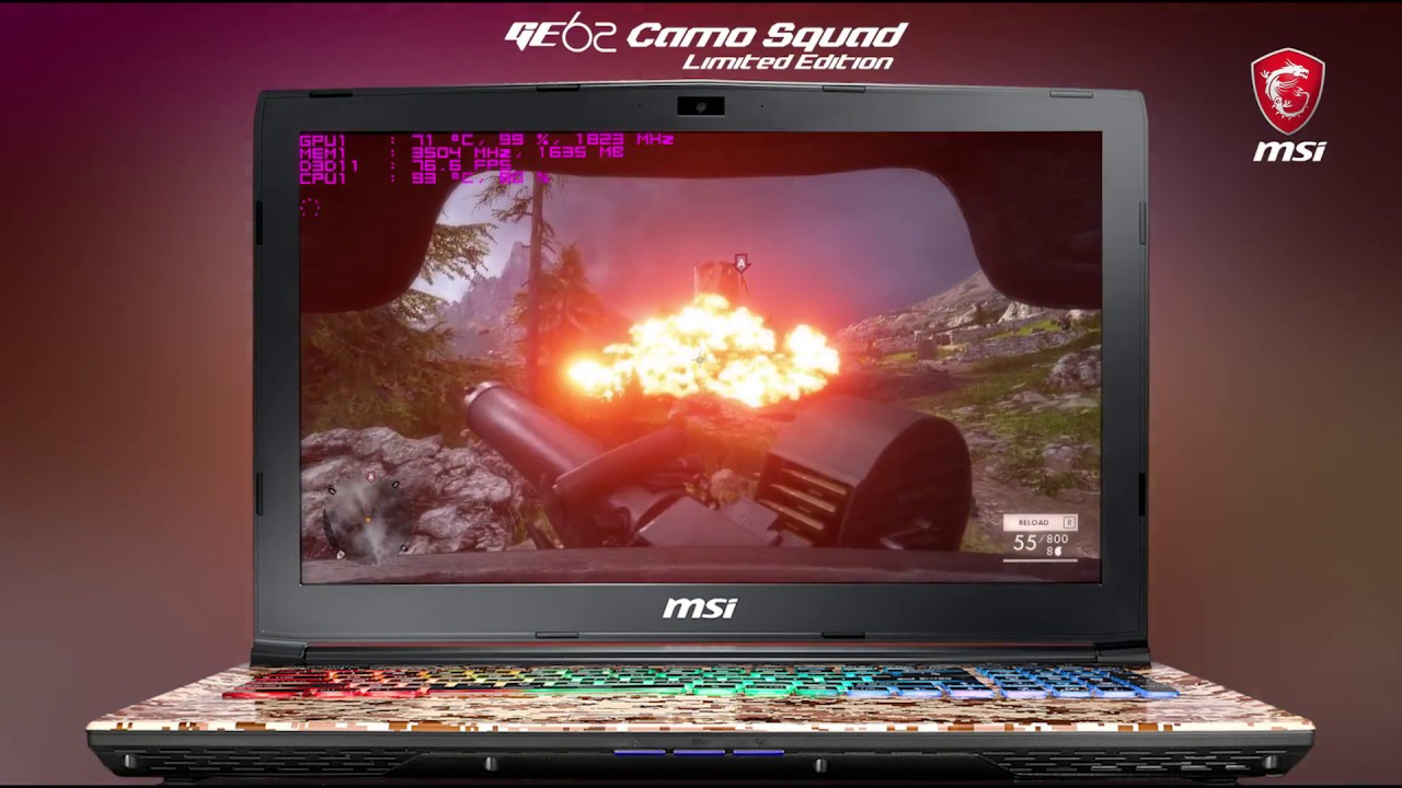 How Smooth Does it Run? Running EA's Battlefield 1 on MSI GE62 7RE Camo Squad Limited Edition
