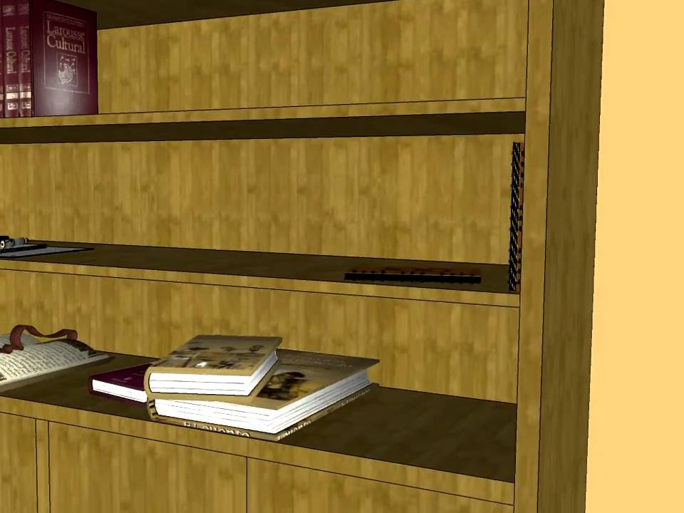 Mueble libreria madera carpinteria santa clara youtube - Carpinteria santa clara ...