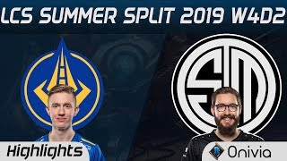 GGS vs TSM Highlights LCS Summer 2019 W4D2 Golden Guardians vs…