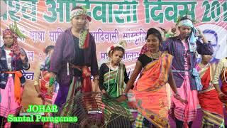 Santhali  Dance    विश्व आदिवासी दिवस2019      Modern Traditional   SP College Dumka