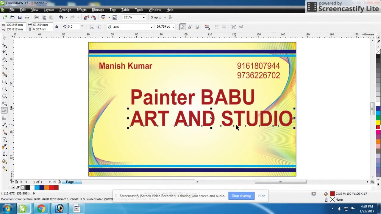 Coreldraw visiting card - How To Create A Visiting Card In Coreldraw