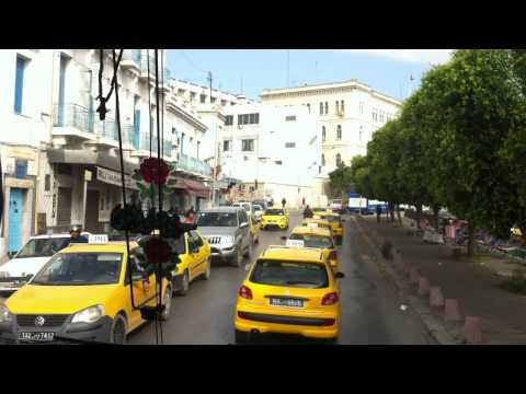 Tunisia   Drive thru Downtown Tunis