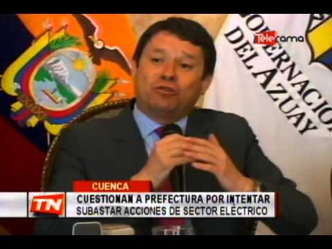 Cuestionan a prefectura por intentar subastar acciones de sector eléctrico