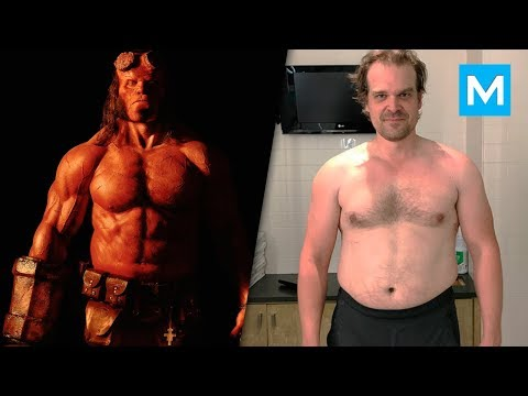 Thumbnail: David Harbour Training for Hellboy | Muscle Madness