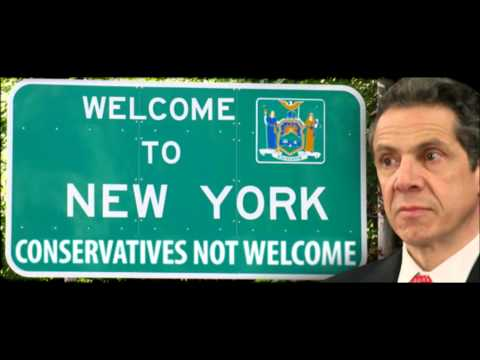 NY Gov. Andrew Cuomo says those w/ conservative values not welcome in the state. Media ignores.