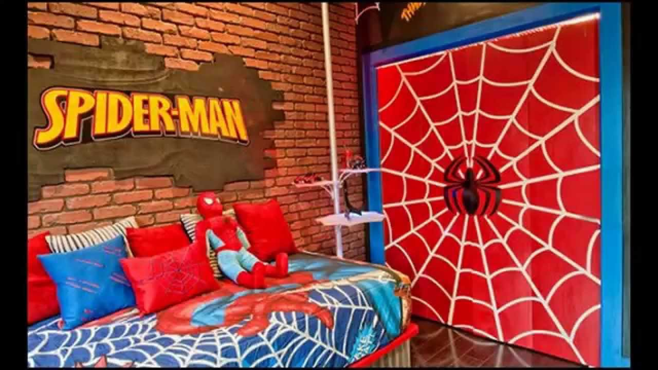 Cool Spiderman bedroom decorating ideas - YouTube