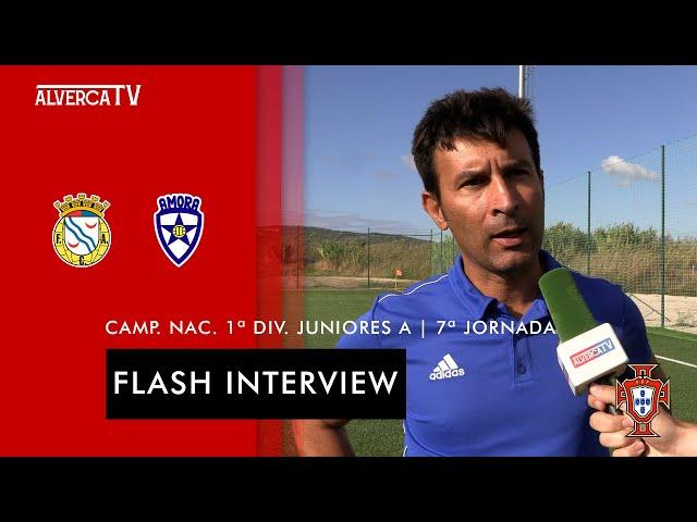 FC Alverca 1 - 0 Amora FC   Flash Interview