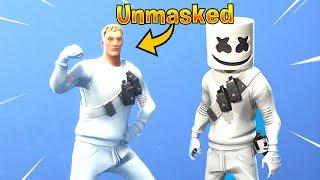 I removed the Mask on Fortnite Skin Marshmello!