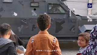 فيديو مؤثر لأطفال يستقبلون القوات المسلحة والأجهزة الأمنية في الطفيلة