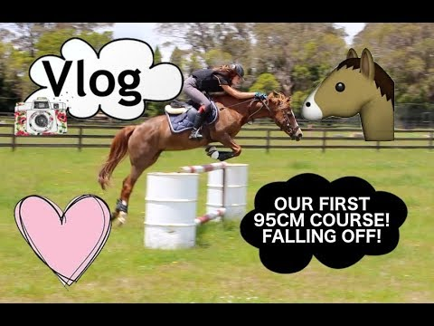 OUR FIRST 95CM COURSE! FALLING OFF!