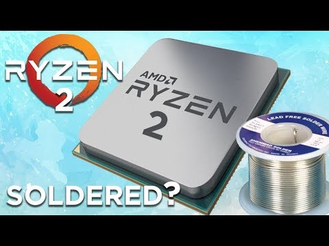 Is Ryzen 2000 Series Soldered & AMD Will Loan You An APU To Update!
