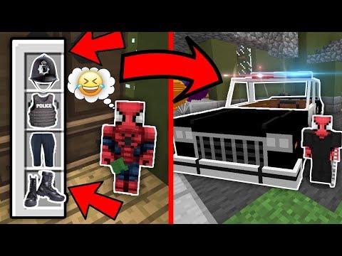 Kötü Bebek Polis Oldu ve Örümcek Adam Çok Kızdı - Minecraft