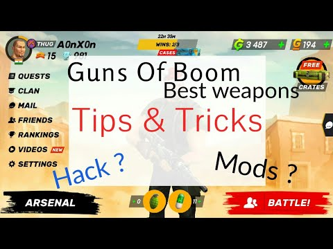 Tips and tricks   Best weapon  Mod or Hack   Guns of boom