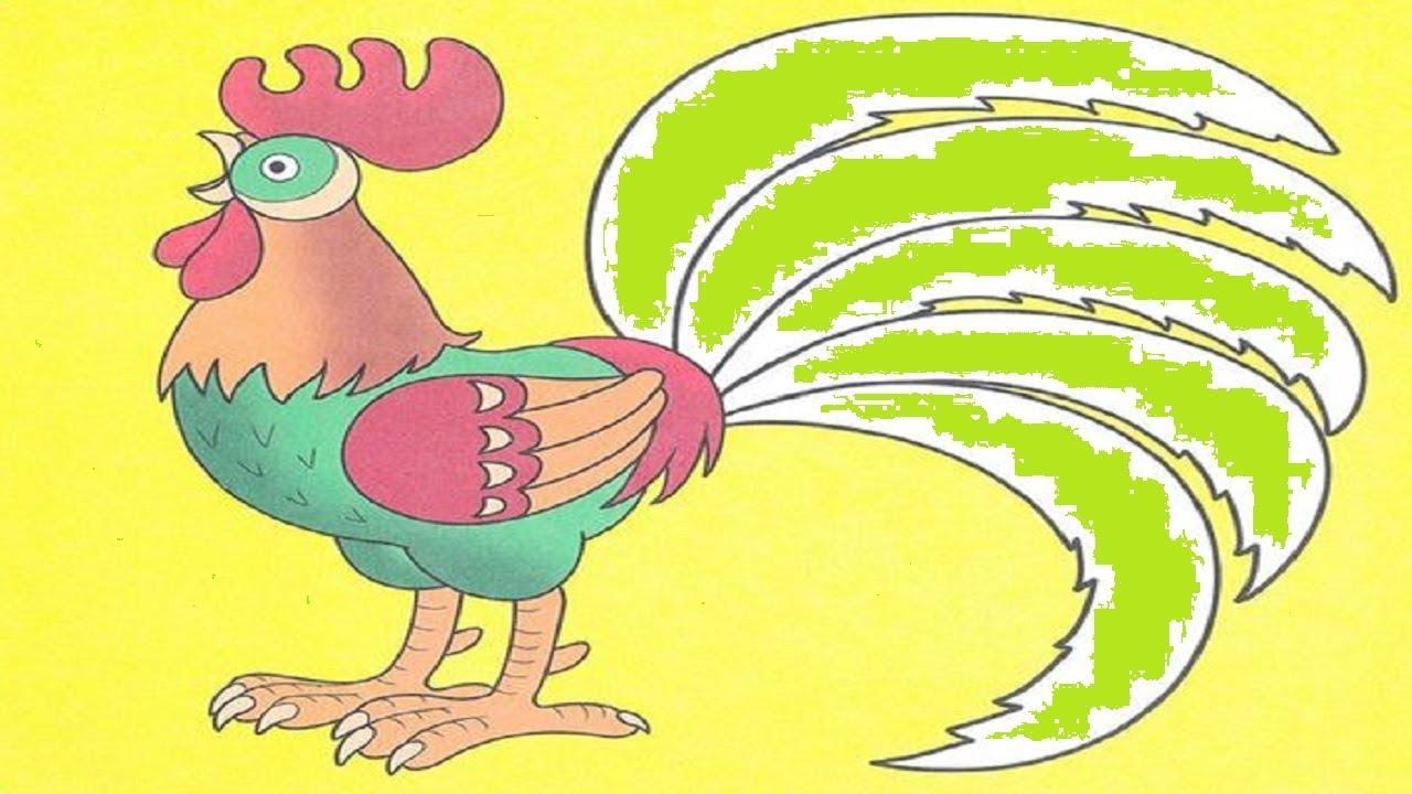 """""""Петух и краски"""" Веселые сказки для детей. Сказки Сутеева ..."""
