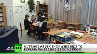 Sex shop asks kids to explain where babies come from.