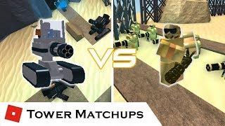 Minigun Legends | Tower Matchups | Tower Battles [ROBLOX] ft. JOHN ROBLOX