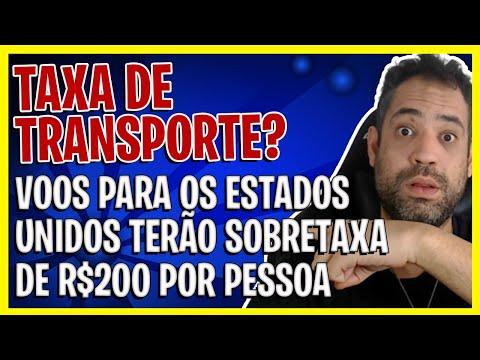 NOVA TAXA PARA VOOS PARA O ESTADOS UNIDOS -TAXA DE TRANSPORTE/SOBRETAXA!