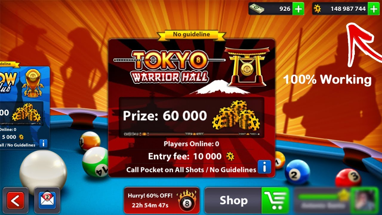 8 ball pool unlimited coins 2018