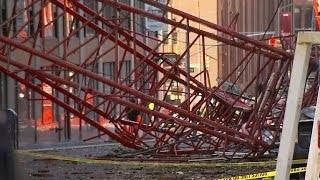 Watch: New video of NYC crane collapse