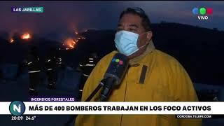 Incendios forestales en Córdoba: más de 400 bomberos trabajan en los focos activos