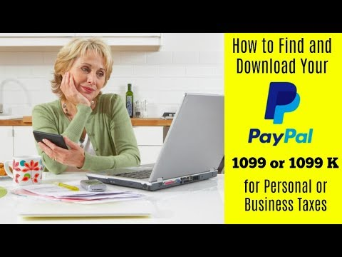 Ebay And Taxes How To Find And Download Paypal 1099 Or 1099 K Youtube