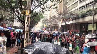 Marcha estudiantil en Bogotá contra la Ley 30 y por la defensa de la Universidad Pública