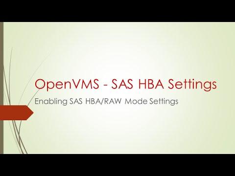 SAS HBA Mode Setting on OpenVMS
