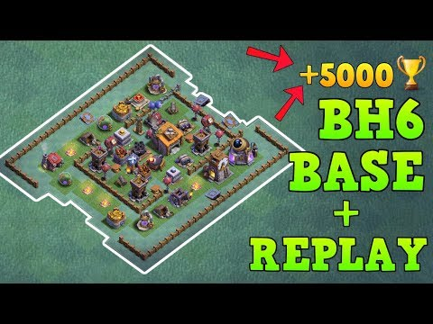 BEST Builder Hall 6 Base +5000 TROPHY W/PROOF | CoC BH6 Builder Base Design | Clash Of Clans