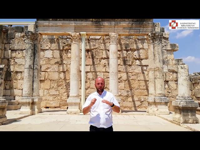 Izrael - Kafarnaum (dom św. Piotra, synagoga, celnik - św. Mateusz)