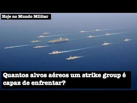 Quantos alvos aéreos um strike group é capaz de enfrentar?