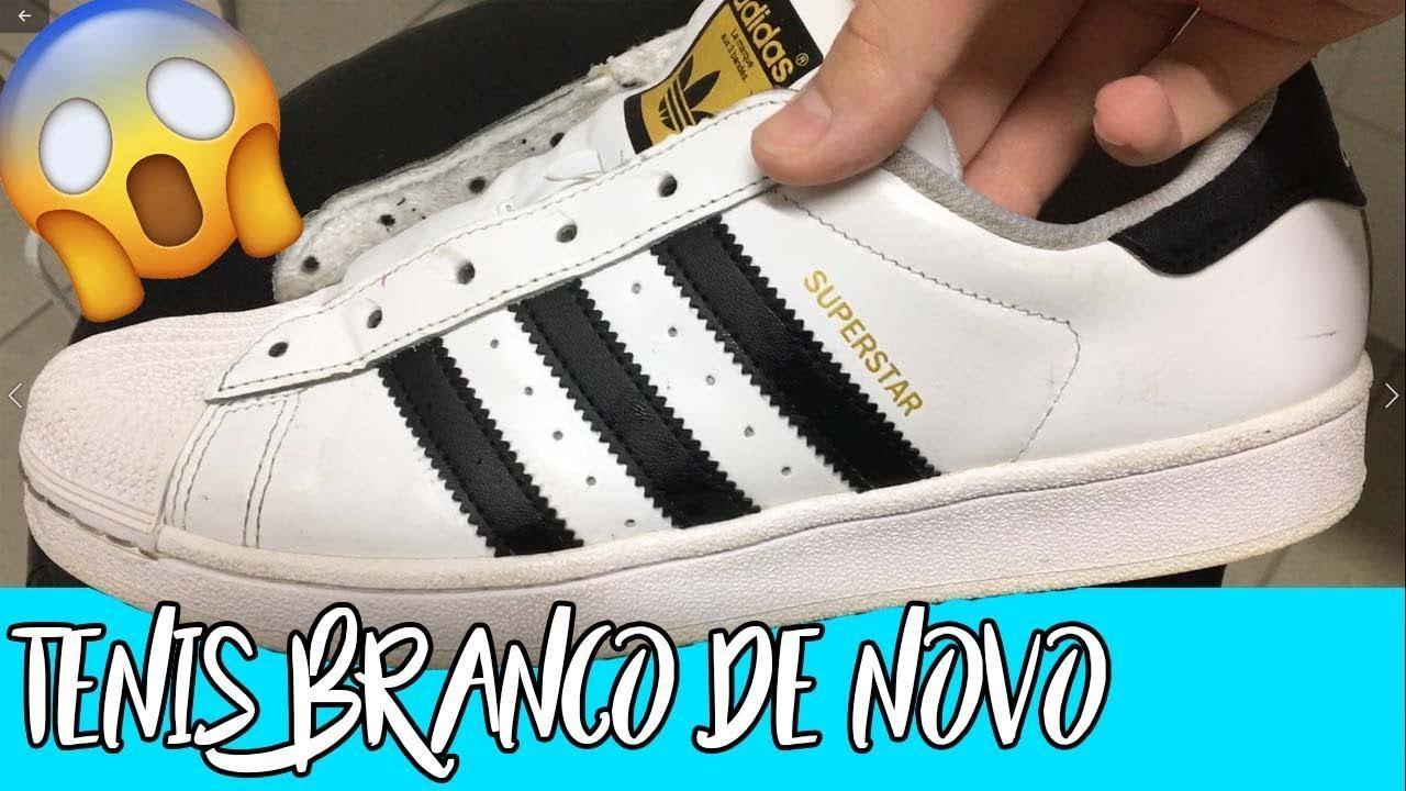 811651330b COMO LIMPAR TÊNIS DE COURO BRANCO (tipo Adidas Originals Superstar ...