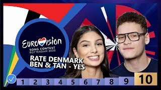 🇩🇰RATE DENMARK - Ben & Tan - Yes - Denmark Eurovision 2020