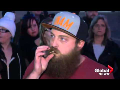 Global News: Arrests at cannabis seed giveaway anger Calgary crowd