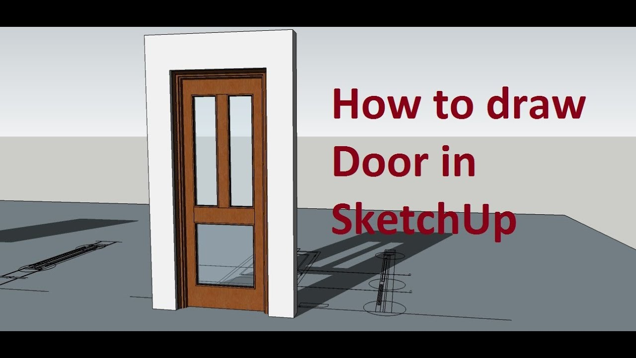 how to draw in sketchup