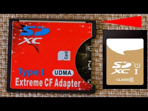 Адаптер карт памяти SD SDHC SDXC на CF