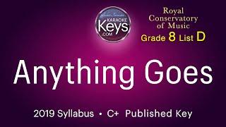 Anything Goes. Cole Porter.  C+  (karaoke piano)  WITH LYRICS. grade 8 RCM