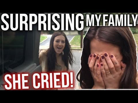 SURPRISING MY FAMILY AFTER 3 MONTHS! (I MADE HER CRY)