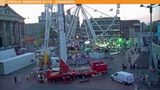 Time lapse opbouw Meikermis Groningen 2016